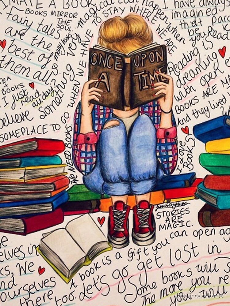 Reading is Dreaming with Open Eyes. by Jessiiccaadraws