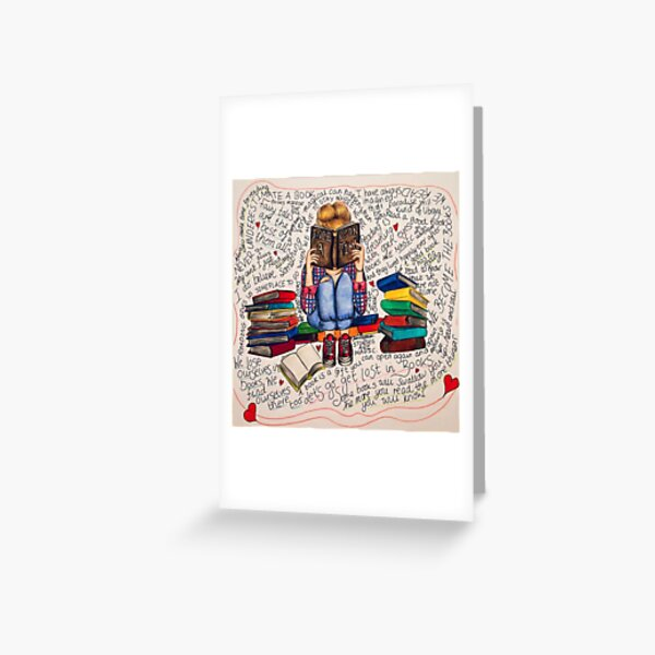 Reading is Dreaming with Open Eyes. Greeting Card