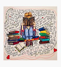 Reading is Dreaming with Open Eyes. Photographic Print