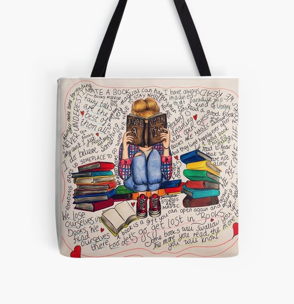 Reading is Dreaming with Open Eyes. All Over Print Tote Bag