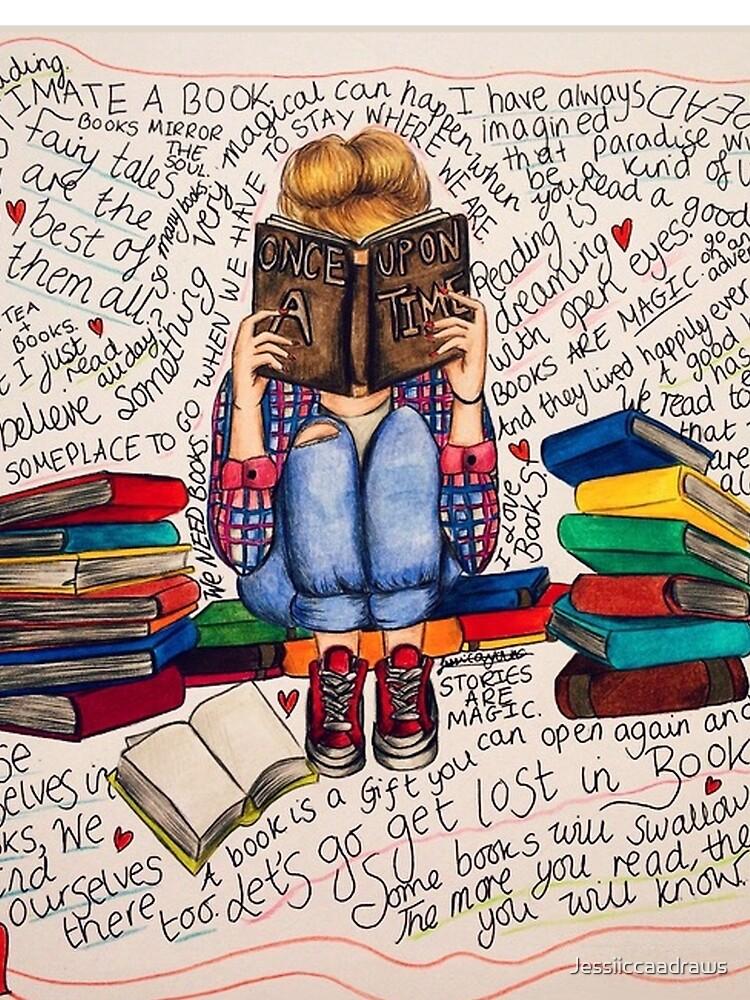 Leer es soñar con los ojos abiertos. de Jessiiccaadraws