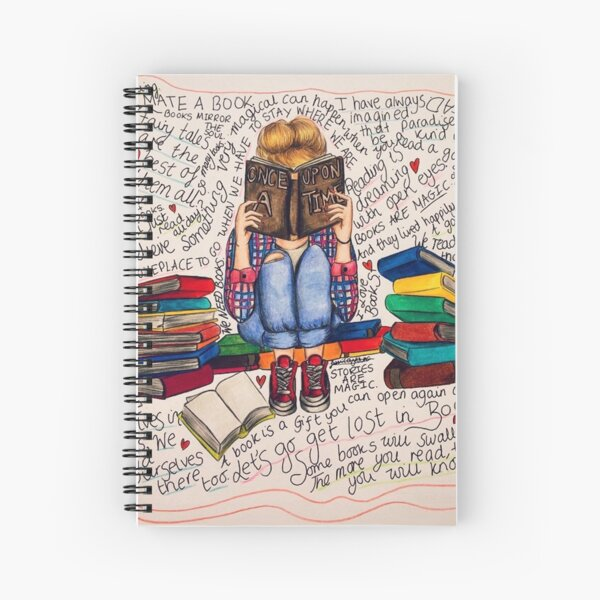 Reading is Dreaming with Open Eyes. Spiral Notebook