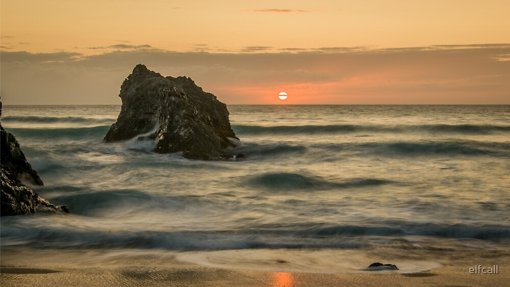 Cornish Sunset by elfcall