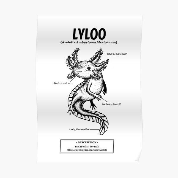 Un axolotl nommé Lyloo Poster