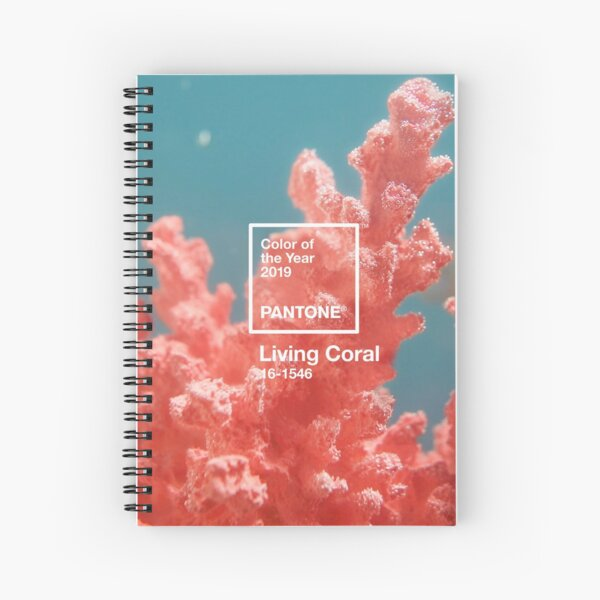 pantone living coral 2 Spiral Notebook