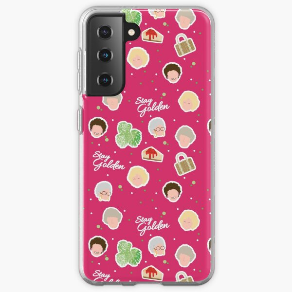 Stay Golden - Golden Girls Inspired pattern Samsung Galaxy Soft Case