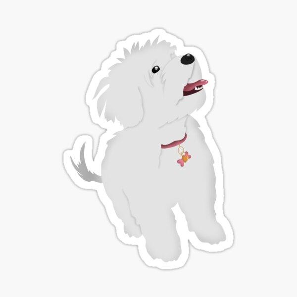 maltese dog Sticker