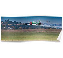 Flying Lion – ZU-BEU - Harvard Aerobatic Team Poster