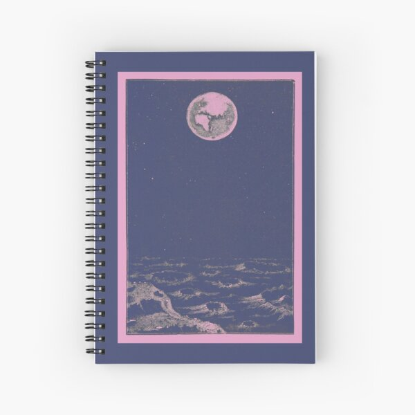Earth from Space in Pink Spiral Notebook