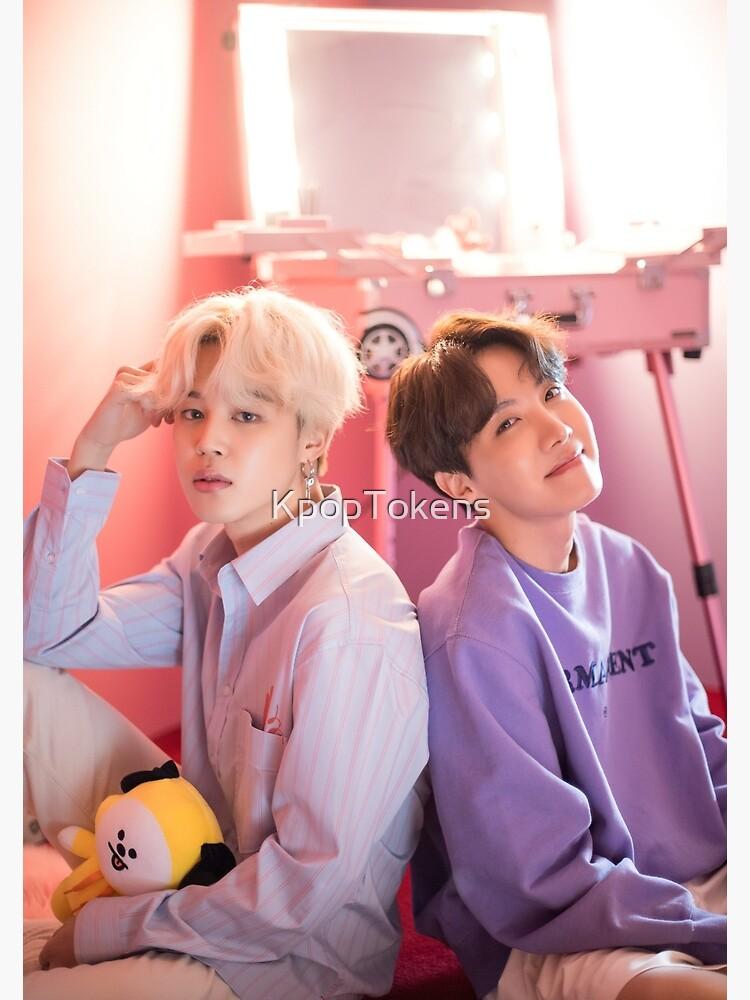Lindo BTS Duo Jihope Jimin y J-hope - Retrato de KpopTokens