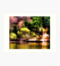 Reflections Off the Lake Art Print