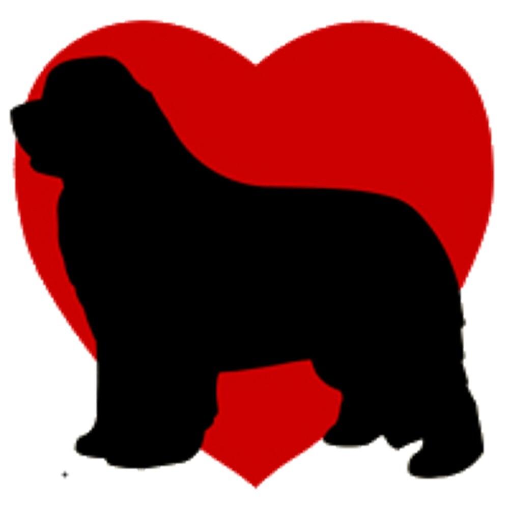 Black Newfoundland Dog Love by psharris