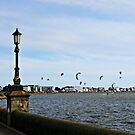 Kite Surfing at Poole Harbour. by ScenicViewPics