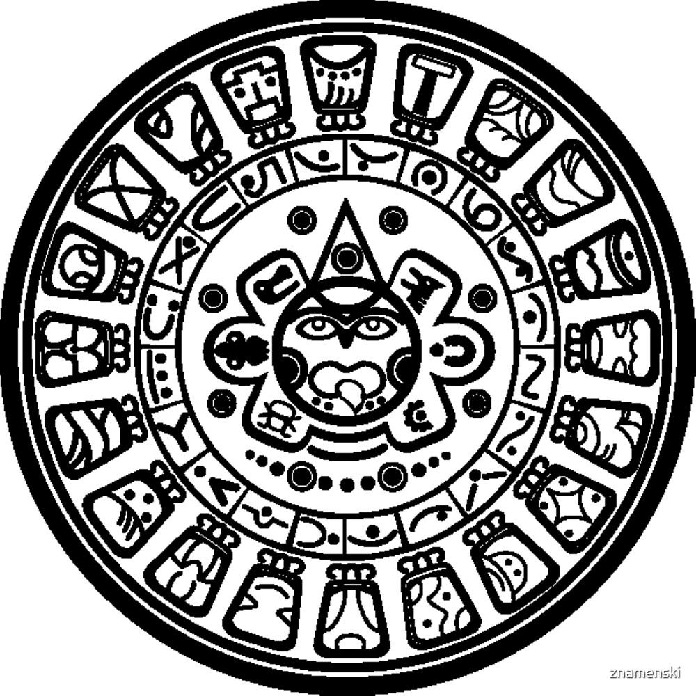 Calendar History Mayan Art Civilization by znamenski