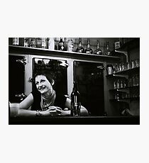 a bar somewhere in Quebec Photographic Print