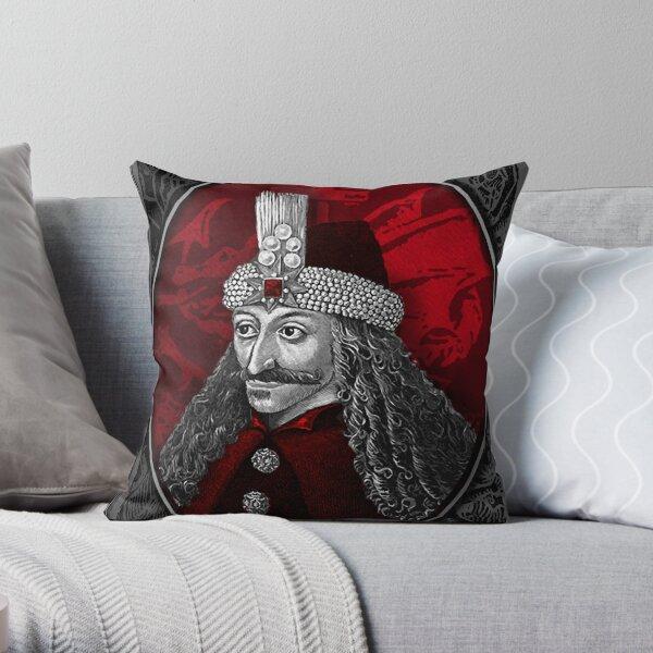 Vlad Dracula Gothic Throw Pillow