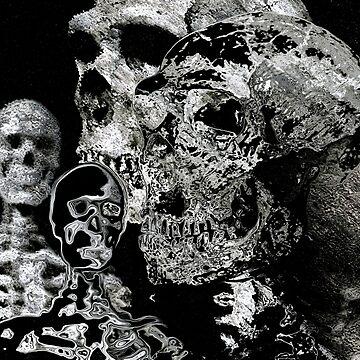 4 skulls bywhacky by bywhacky