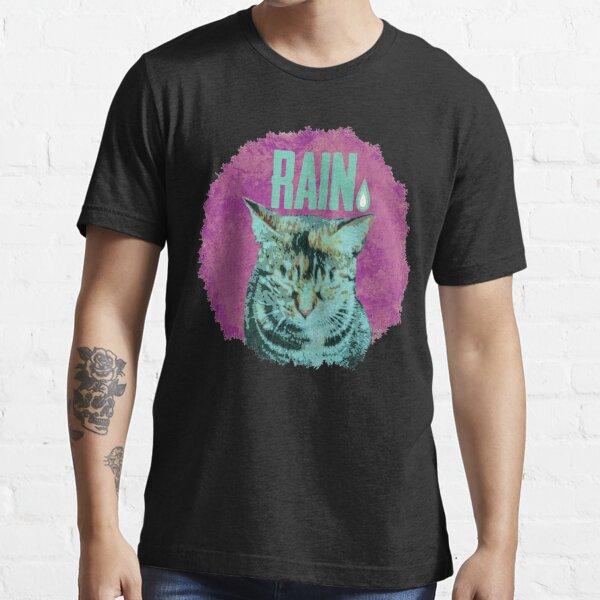 Katze im Regen Essential T-Shirt