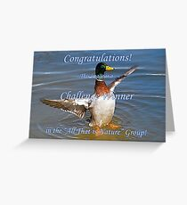 All That is Nature Challenge Winner Banner Greeting Card
