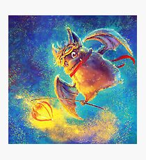 Ikou the Cute Bat Photographic Print
