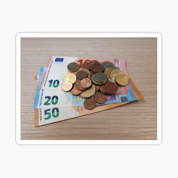 Euro Coins and Bills Sticker