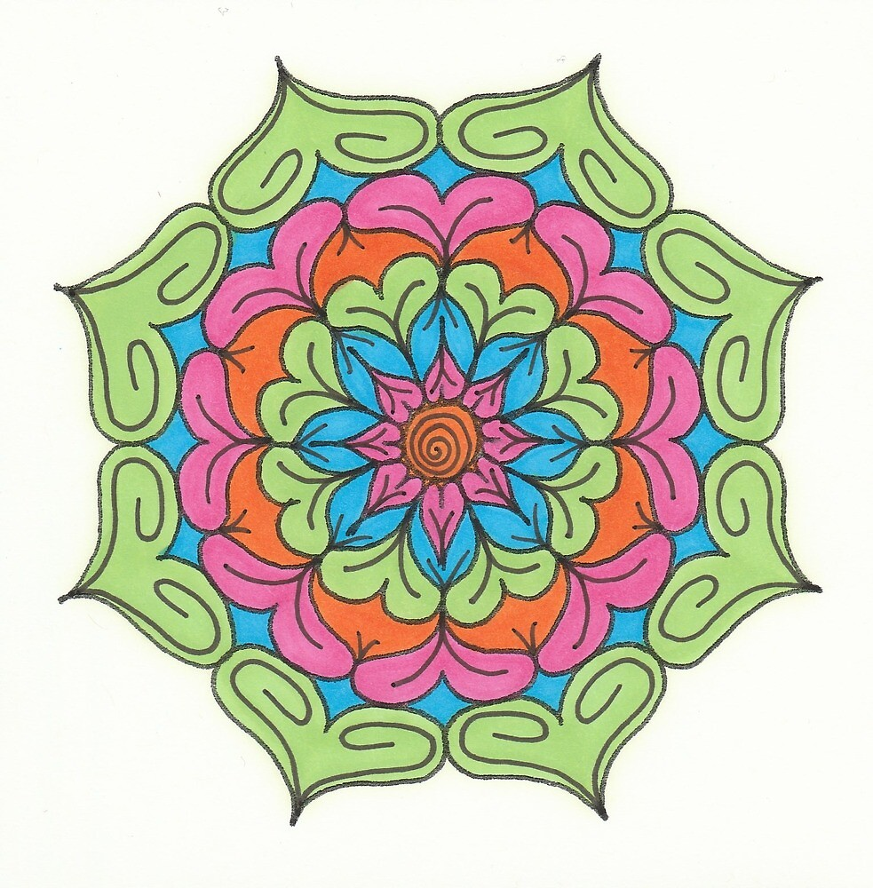 Mandala Drawing #3 Original Design by TAM by Michelle Clifton