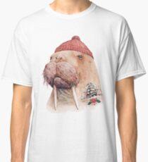 Tätowiertes Walross (rot) Classic T-Shirt
