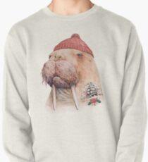 Tätowiertes Walross (rot) Sweatshirt