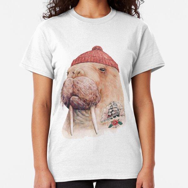 Tattooed Walrus (Red) Classic T-Shirt