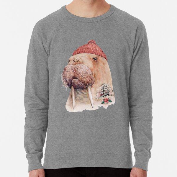 Tattooed Walrus (Red) Lightweight Sweatshirt