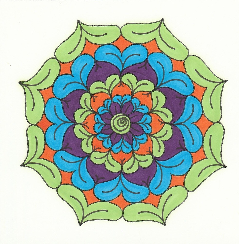 Mandala Drawing #5 Original Design by TAM by Michelle Clifton
