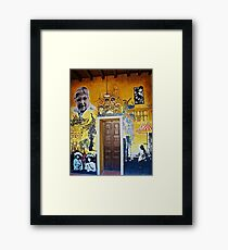 Mural from Parral, Mexico Framed Print