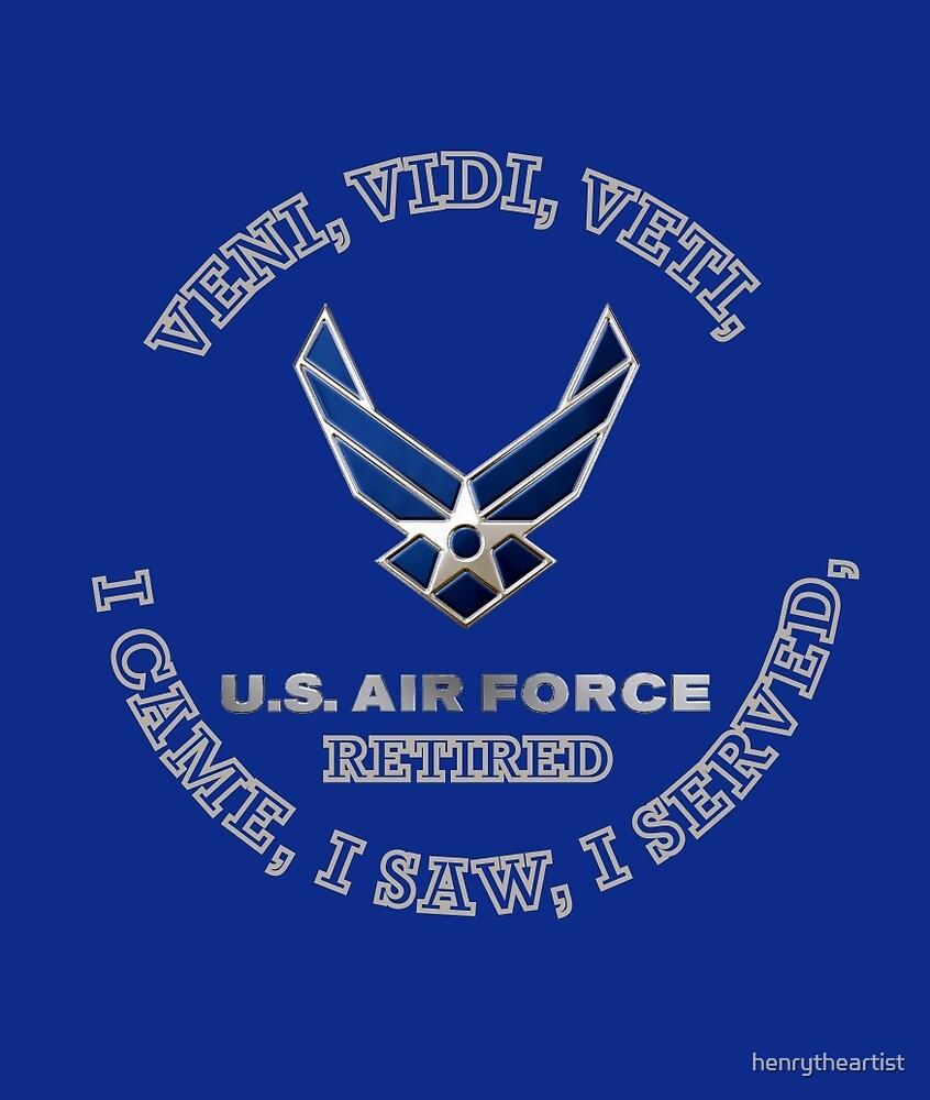 USAF RETIRED LOGO SHIELD by henrytheartist
