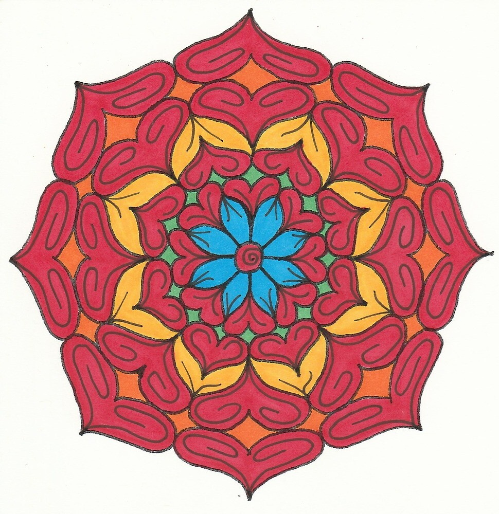 Mandala Drawing #7 Original Design by TAM by Michelle Clifton