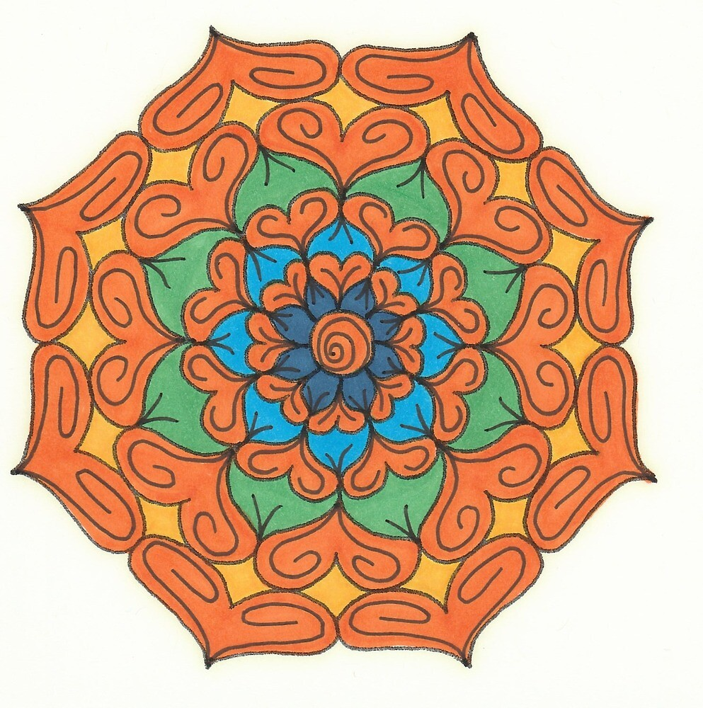 Mandala Drawing #8 Original Design by TAM by Michelle Clifton