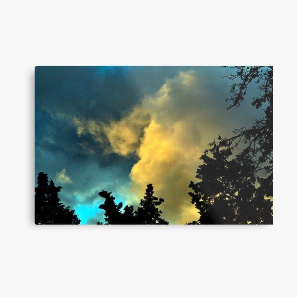 Painting Clouds  Metal Print