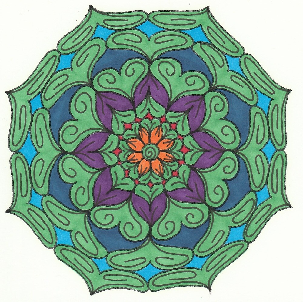 Mandala Drawing #10 Original Design by TAM by Michelle Clifton