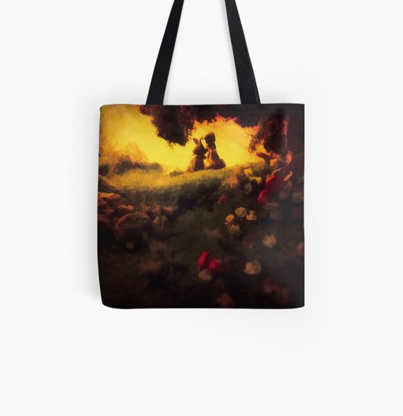 Bunny Love All Over Print Tote Bag