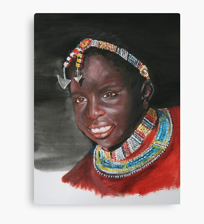 Young Masai girl Canvas Print