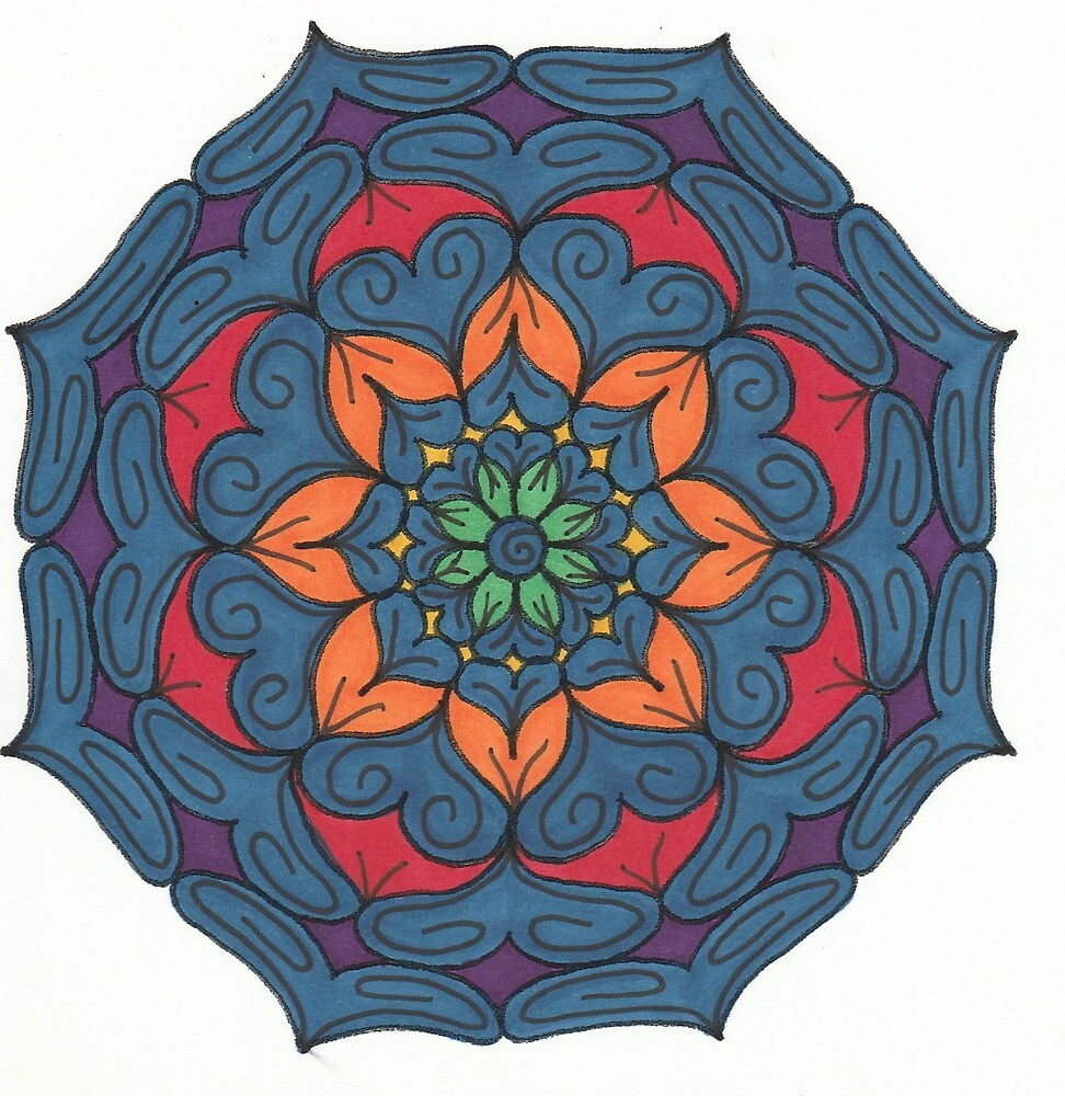 Mandala Drawing #12 Original Design by TAM by Michelle Clifton