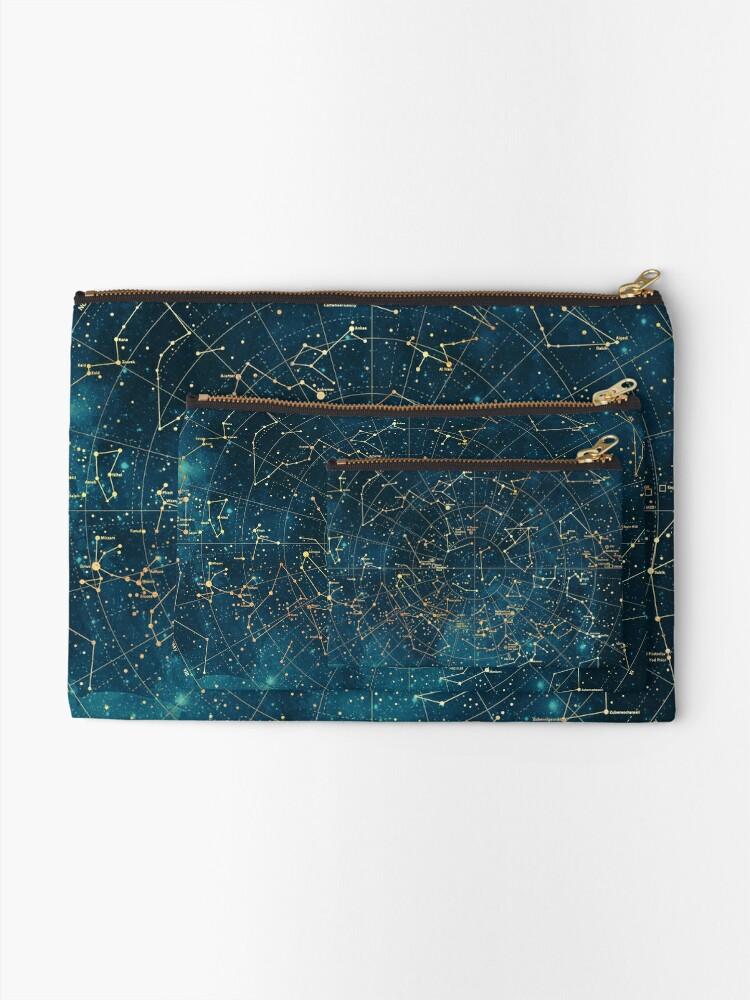 Alternate view of Under Constellations Zipper Pouch