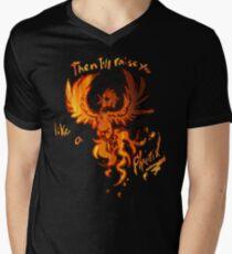 Fall Out Boy - The Phoenix - Then I'll Raise You Like A Phoenix Men's V-Neck T-Shirt