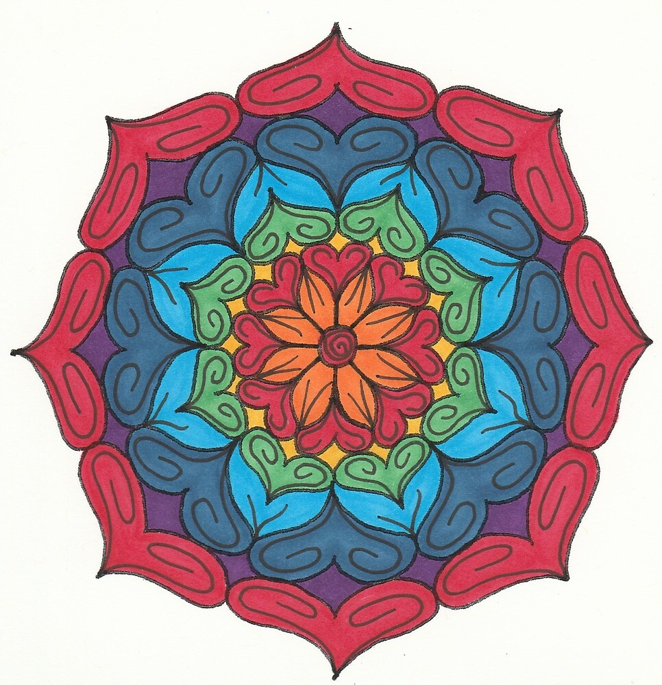 Mandala Drawing #14 Original Design by TAM by Michelle Clifton