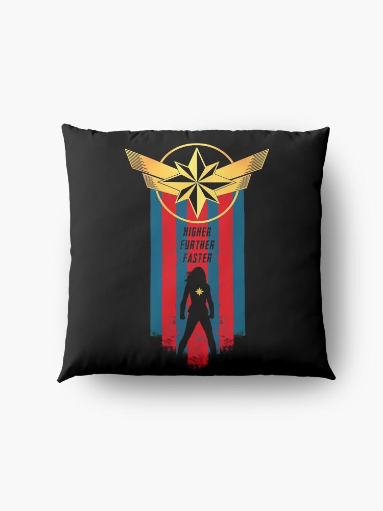 Alternate view of A Real Heroine v2 Floor Pillow