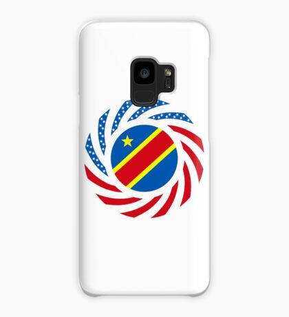 Congolese American (Democratic Republic) Multinational Patriot Flag Series Case/Skin for Samsung Galaxy