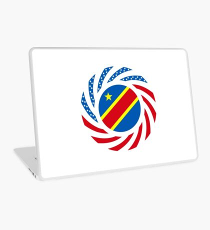 Congolese American (Democratic Republic) Multinational Patriot Flag Series Laptop Skin