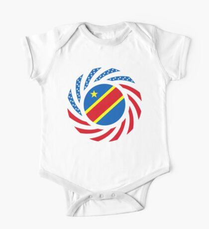 Congolese American (Democratic Republic) Multinational Patriot Flag Series Kids Clothes