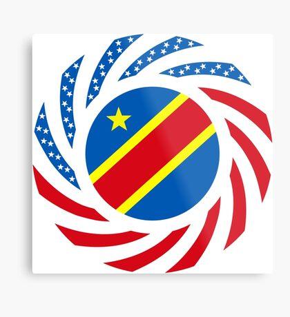 Congolese American (Democratic Republic) Multinational Patriot Flag Series Metal Print