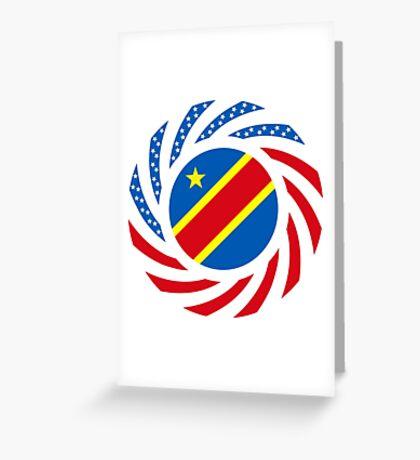 Congolese American (Democratic Republic) Multinational Patriot Flag Series Greeting Card