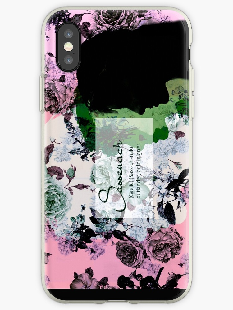 Sassanach floral design purple//green by approvesomuch
